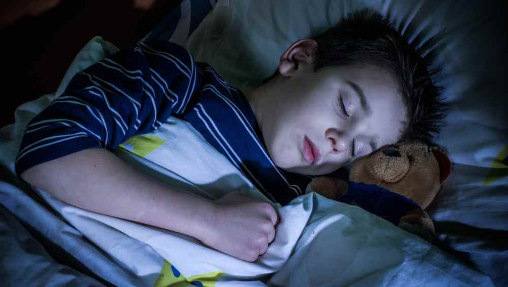 getting kids to sleep in