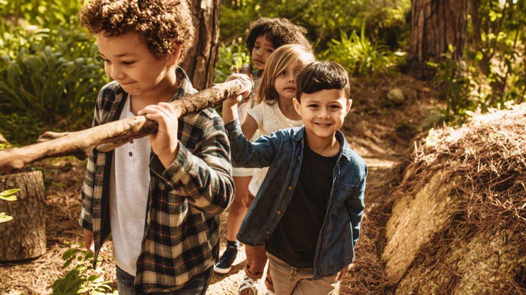kids spending time outside